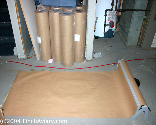 Brown Paper Bag Floor Covering http://www.finchaviary.com/Accessories/FloorCovering.htm