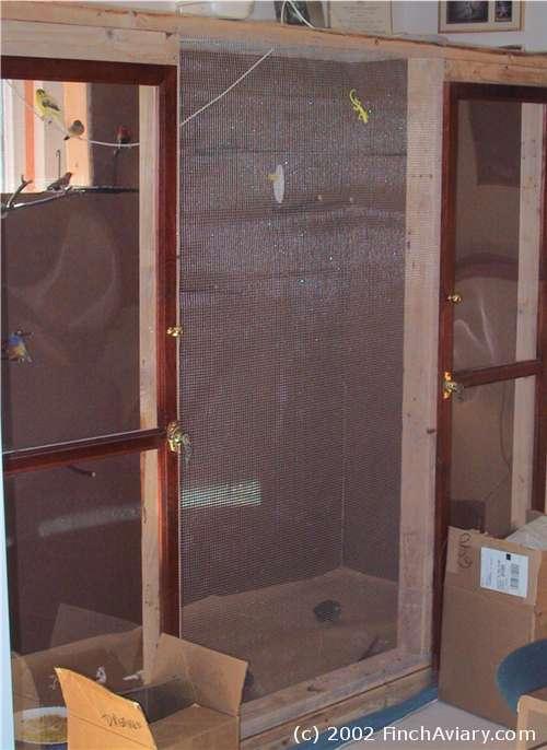 Temporary Construction Doors : Finch aviary construction temporary